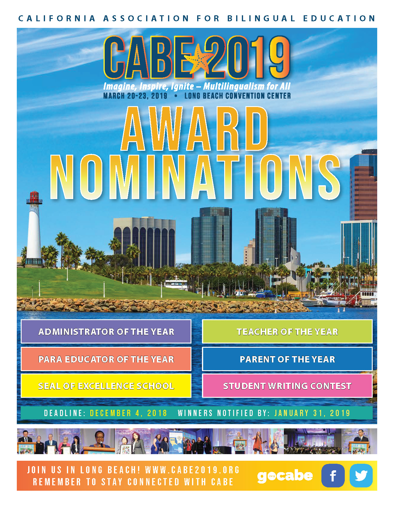 Download The Awards nomination Brochure for CABE 2019
