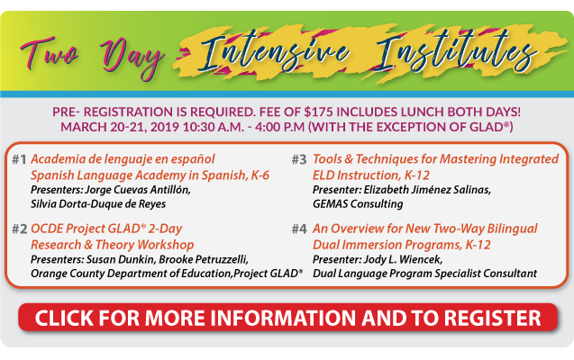 2-DAY INTENSIVE INSTITUTES at CABE 2019